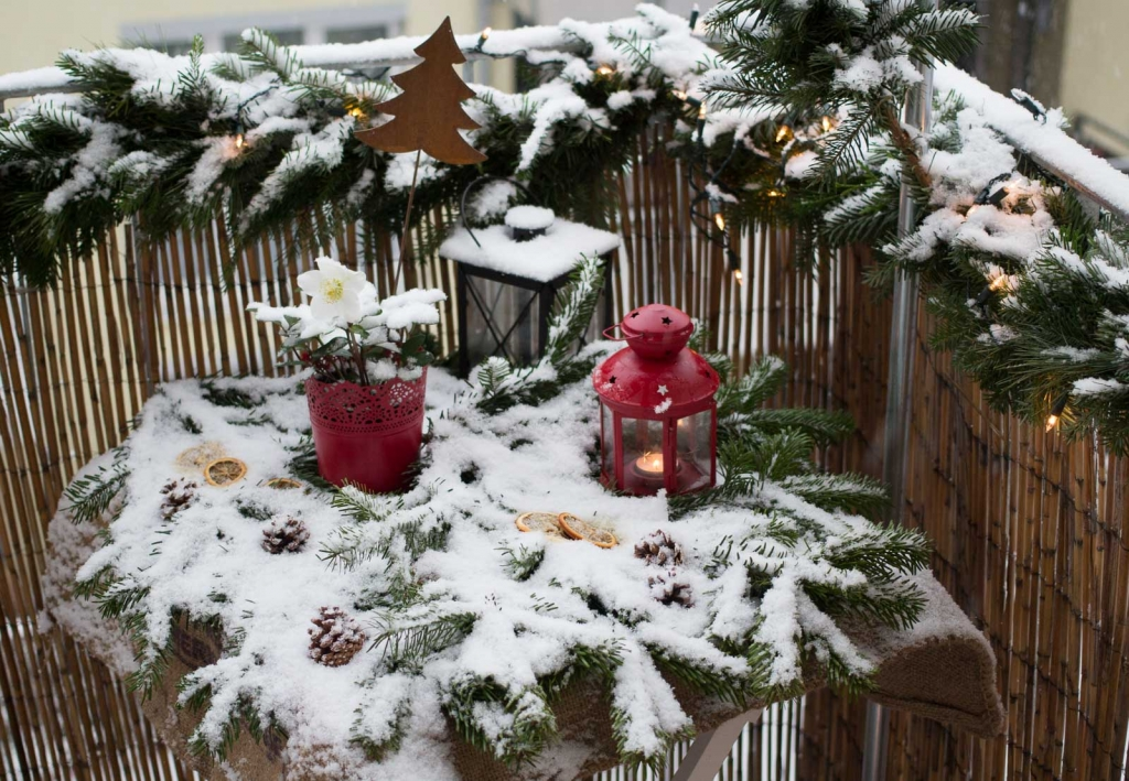 Suche Schöne Weihnachtsdeko.Weihnachtsdeko Für Den Balkon Beetfreunde De